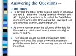 answering the questions continued3