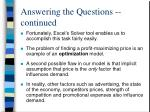 answering the questions continued5