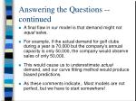 answering the questions continued6