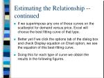 estimating the relationship continued2