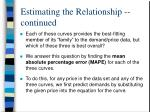 estimating the relationship continued3