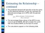 estimating the relationship continued4