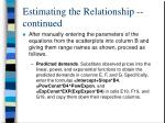 estimating the relationship continued5