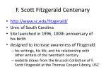 f scott fitzgerald centenary