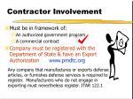 contractor involvement