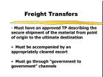 freight transfers