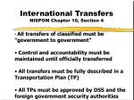 international transfers nispom chapter 10 section 4