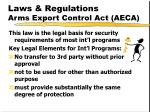laws regulations arms export control act aeca