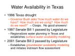 water availability in texas