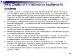 new zealand s distinctive tax benefit system