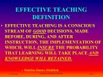 effective teaching definition