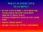 what is effective teaching1