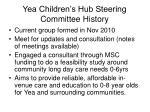 yea children s hub steering committee history