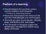 platform of e learning