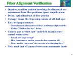 fiber alignment verification