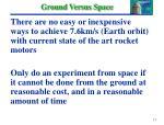 ground versus space
