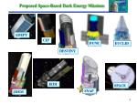 proposed space based dark energy missions