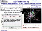 expected result 1 precise measurement of pol vector in crab nebula