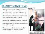 quality service gap