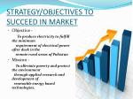 strategy objectives to succeed in market