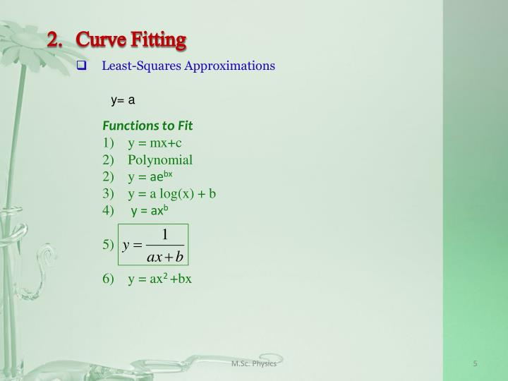 2.Curve Fitting