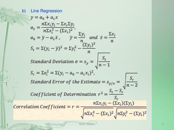 b)Line Regression