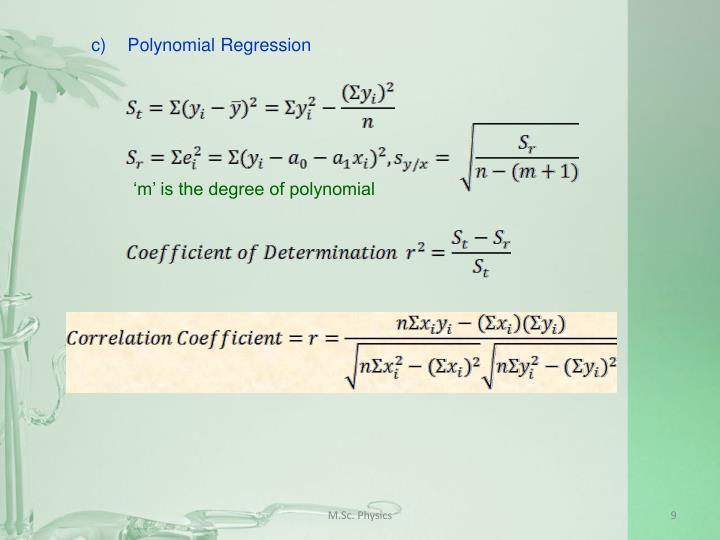 c)Polynomial Regression