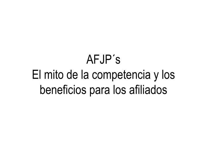 AFJP´s