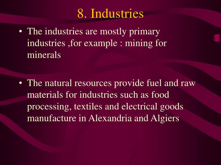 8. Industries