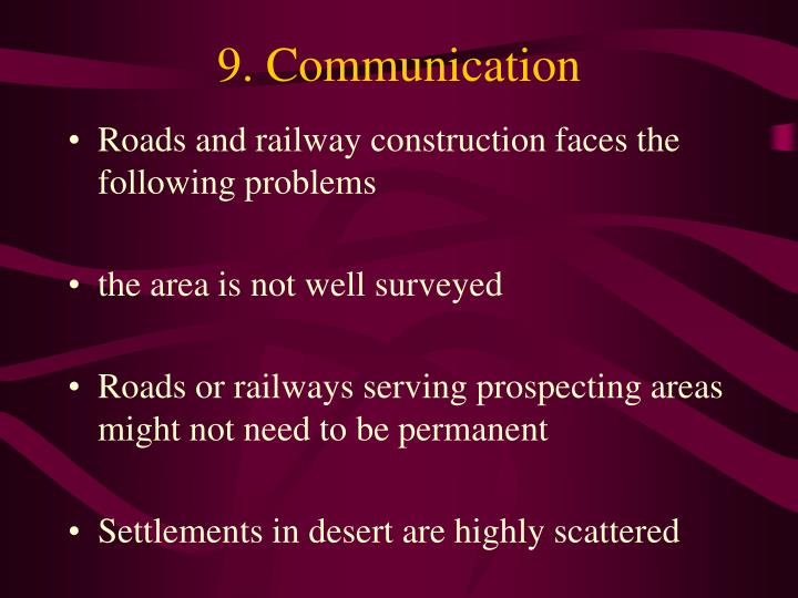 9. Communication