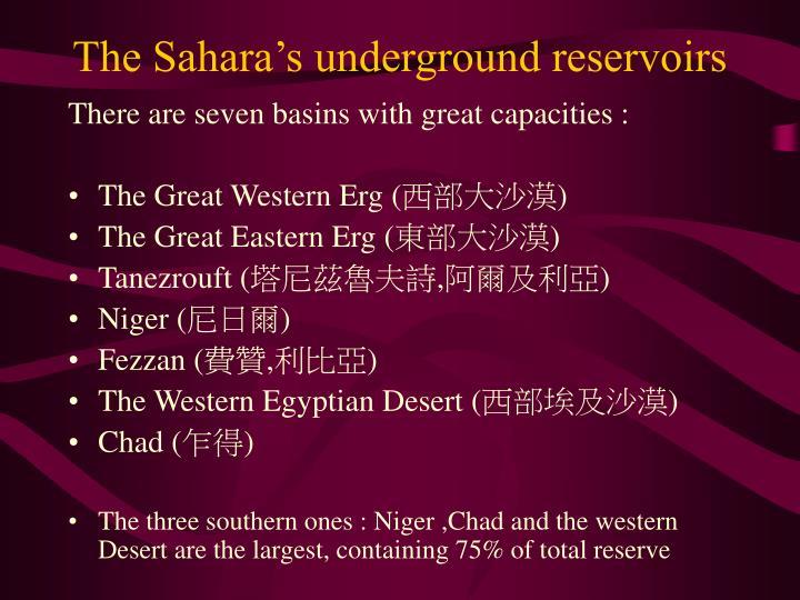 The Sahara's underground reservoirs