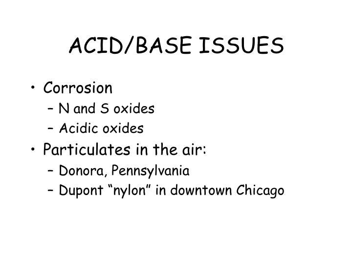 ACID/BASE ISSUES