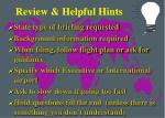 review helpful hints