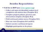 awardee responsibilities