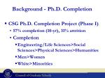 background ph d completion1