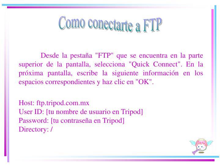 Como conectarte a FTP