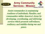 army community services mission
