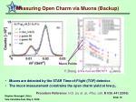 measuring open charm via muons backup