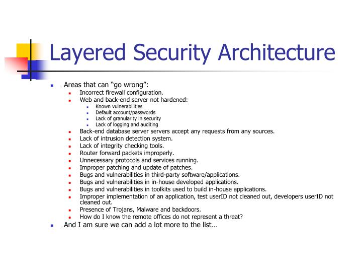 Layered Security Architecture