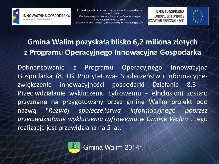 Projekt współfinansowany ze środków Europejskiego Funduszu Rozwoju