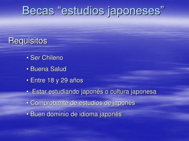 "Becas ""estudios japoneses"""
