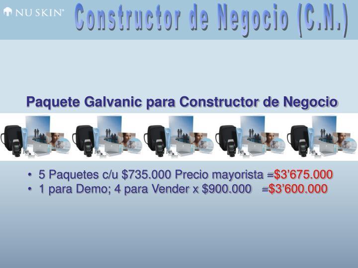 Constructor de Negocio (C.N.)