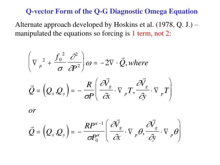 Q-vector Form of the Q-G Diagnostic Omega Equation