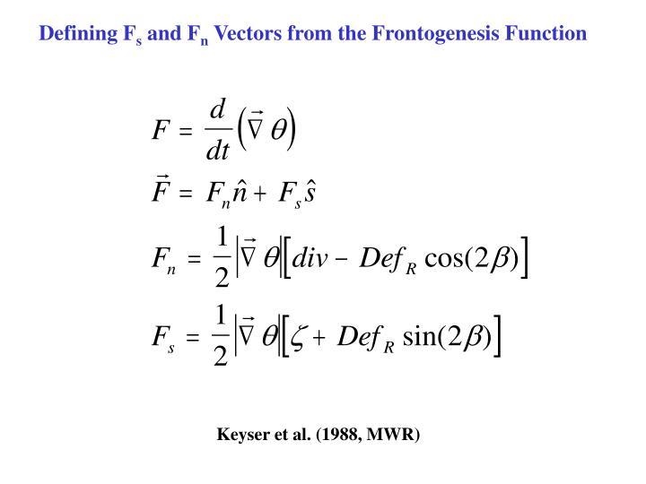 Defining F
