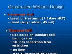 constructed wetland design