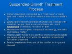suspended growth treatment process