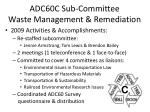 adc60c sub committee waste management remediation