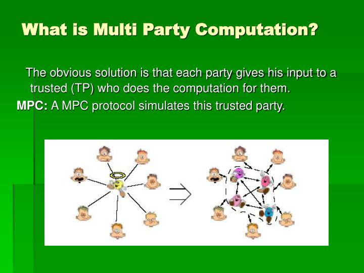 What is Multi Party Computation?
