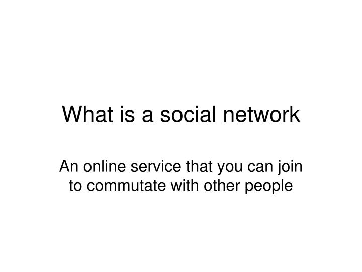 what is a social network n.