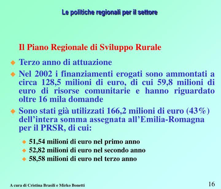 Le politiche regionali per il settore